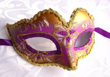 Purple & Gold Mini Petite Mask